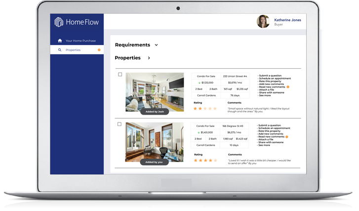 Collaborative Search to Find a Home by HomeFlow